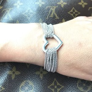 💍 Tiffany & Co Multi Chain Heart Bracelet